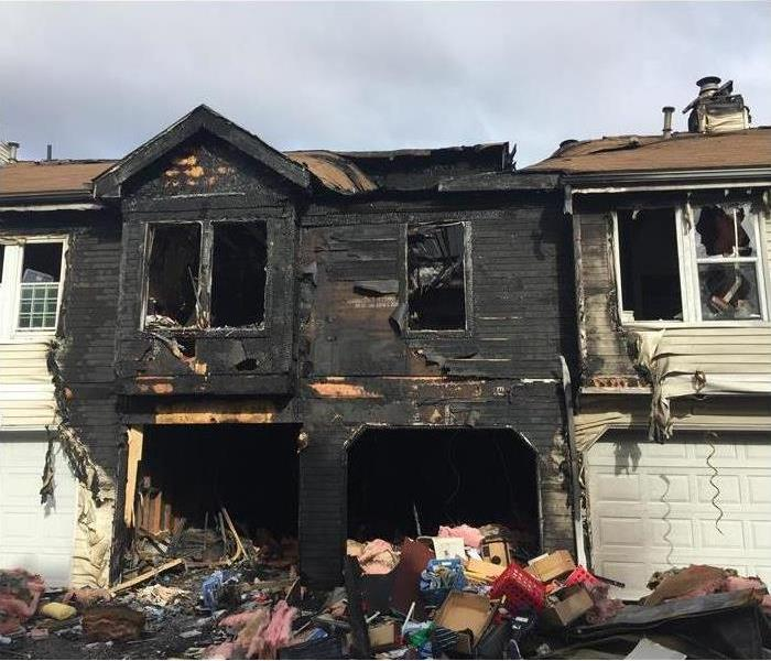 fire damage in apartment